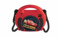 Disney Cars CD Player Boombox Radio Karaoke Pixar Lexibook