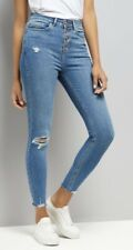 New Look High Waisted Ripped Skinny Jeans (UK10)