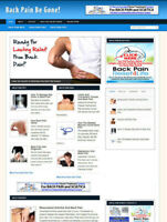 BACK PAIN ADVICE WEBSITE BLOG WITH AFFILIATE STORE & BANNERS + NEW FREE DOMAIN