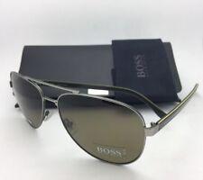 New HUGO BOSS Sunglasses 0761/S QJIDS Ruthenium-Khaki Aviator w/ Brown Polarized