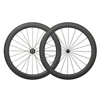 23 Wide 55mm  Carbon Tubeless Clincher Wheelset 700C Road Bike Powerway Hub