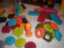 ~B~ BRISTLE BLOCKS...60 COLORFUL PIECES WITH CASE...12.99