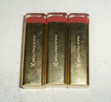 3 tube lot MAX FACTOR X COLOUR ELIXIR LIPSTICK 735 MAROON DUST unsealed flaw
