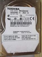 320 GB Toshiba MK3265GSX GJ001Q KU9 HDD2H83PCB OK disco rigido 010 A0 EC.A