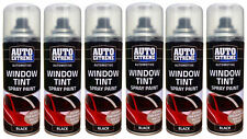 6 x Black Window Tint Spray Car Glass Light Cover Tint Paint Automotive 200Ml