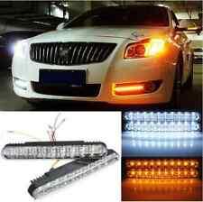 2Pcs 30 LED Bulb Car Daytime Running DRL Daylight Lamp with Turn Lights 12V