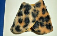 "Faux Fur Leopard Print Wrap homemade 12"" Doll Clothes fit Clone Tammy Darci Jem"