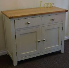 Dorset French Ivory / Cream Painted Oak & Pine 2 Door Sideboard Cupboard Cabinet
