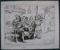 1835 Antiguo Estampado Don Quijote Chisciotte Por Bartolemeo Pinelli ~ P 49