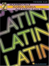"""""""MAMBO No.5-MARIA MARIA AND OTHER LATIN HITS"""" FOR """"TENOR SAX"""" MUSIC BOOK/CD-NEW!"""