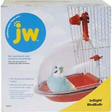 New listing Bird Water Bath Tub For Pet Birds Cage Hanging Accessory Bowl Parakeet Birdbath