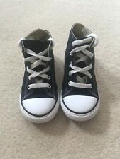 CONVERSE ALL STAR KIDS CANVAS LOW HIGH TOP SNEAKERS EU25/UK9