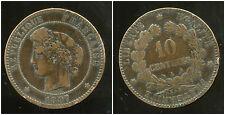 FRANCE   FRANCIA    10 centimes ceres 1897 A  torche  (5) ( bis )