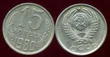RUSSIE   15 kopek   1980   ( bis )