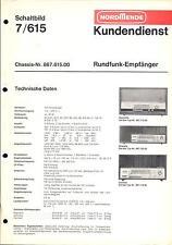 Nordmende Service Manual für Rigoletto - Skandia - Carmen  7/615