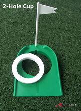 A99 Golf 2-Hole Putting Cup Adjustable Flagpole Hole Indoor Training Aids - 1Set