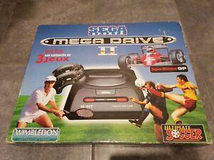 Sega Mega Drive 2 Sega Sports PAL Fr Set-Console comme neuf Rare Complet ++