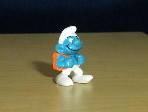 Smurfs 20103 Pupil Smurf Student Orange Backpack Vintage School Toy PVC Figurine