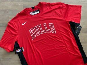 Nike Chicago Bulls NBA Shooting Shirt Team Issued AV0926 657 Size XXL Tall
