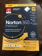 Norton 360 Premium 10 Devices VPN 75GB Secure PC Cloud Backup Keycard New!