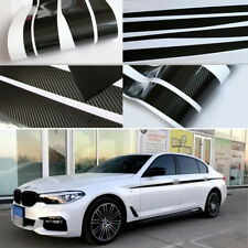 Car Both Body Sides Stripe Decal Stickers Waterproof Vinyl 3D Carbon Fibre Style