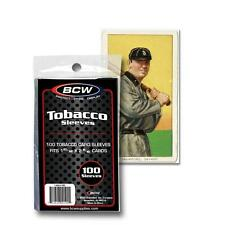 100 BCW TOBACCO CARD SLEEVES