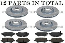 BRAND NEW TOYOTA AURIS REAR+FRONT BRAKE DISCS AND BRAKE PADS SET 2006-2013
