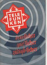 Radio Prospekt  TELEFUNKEN von 1934