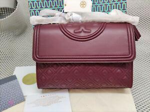 TORY BURCH Large Fleming Convertible Shoulder Bag  IMPERIAL GARNET Hot