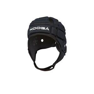 KOOGA COMBAT BLACK RUGBY HEADGUARD  SMALL, MEDIUM AND LARGE ADULT