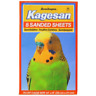 "KAGESAN SANDED SHEETS NO 4 ORANGE 35x21CM (14X8"") 8 PK BIRD CAGE SAND SHEETS"