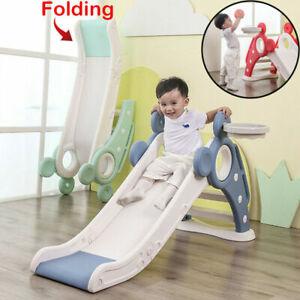 Kids Slide Climber Play Set Folding Toddler Play Fun Child Slide Outdoor Indoor