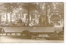 1925? Real Photo Potsdam Germany Berolina Rundfahrten Continental Tires Postcard