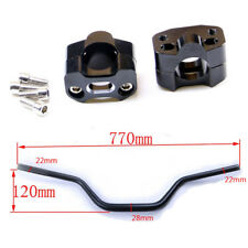 "1 1/8"" 28mm Handlebar + Riser Clamp For CRF 50 SSR 110cc 125cc ATV Dirt Bike su0"
