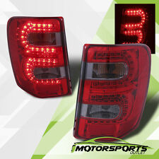 1999-2004 Jeep Grand Cherokee Red Smoke LED Rear Brake Tail Lights Pair