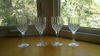 """Cristal D'Arques Bretagne 4 Each Crystal Clear Wine Glasses Goblets 7 1/4"""" Tall"""