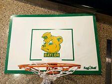 Vintage Rag Ball Baylor Bears NCAA Mini Basket Ball Hoop, Rare BIG 12 dorm room