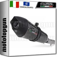 GPR Exhaust System Scarico GU.13.TRI Terminale Omologato con Raccordo Moto Guzzi Griso 1100 2005//08 Trioval