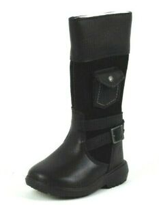 Timberland Dervish Charles Street 74803 Toddler Boots Black Leather Dead Stock