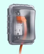 Quick-Fit WEATHERPROOF COVER - Outdoor Electrical Box -  Single Outlet Protector