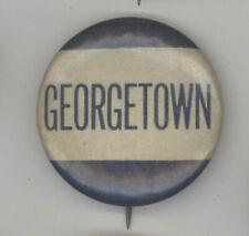 1940s GEORGETOWN UNIVERSITY Hoyas PINBACK Pin BUTTON Badge WASHINGTON DC Sports