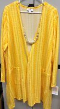 NWT LuLaRoe 2XL Yellow and Gold Aztec Striped Caroline Cardigan Sweater