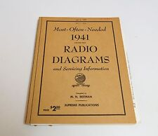 Most Often Needed 1941 Radio Diagrams & Servicing Information by M N Beitman
