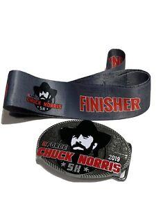 Chuck Norris CForce 5k Belt Red Black Buckle Martial Arts