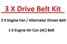Mazda Pick Up BT50 - 2.5TD / 3.0TD Engine Fan/Alternator + AC Belts (08/2006+)