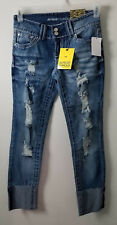 Almost Famous Capri Style Cropped Jeans Size 5 Juniors -Nwt