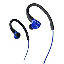 Pioneer SE-E3 Blue In ear Sports Headphones with flexible ear hooks. Sweat Proof