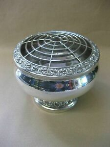 Vintage Silver Plated Rose Bowl by Ianthe of England ~ Flower Vase / Centrepiece