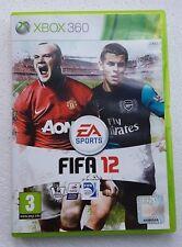 FIFA 12 X BOX 360 Football Soccer Video Game Disc EA Sports Microsoft Console