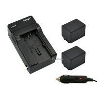 2 Battery + Charger BP-727 BP727 for Canon VIXIA HF M50 M500 M52 R300 R42 R50